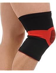 BUSL Verano rodilla rodilla deportes cálida bicicleta de montaña bádminton baloncesto que se ejecuta el equipo de protección de la aptitud para los hombres y las mujeres (instalado un par) . b . l