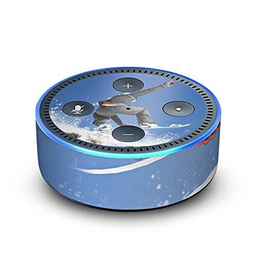 DeinDesign Amazon Echo Dot 2.Generation Folie Skin Sticker aus Vinyl-Folie Snowboard Sprung Wintersport Echo-snowboard