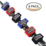 Fishing Rod Belts Ties Stretchy Magic Bait Casting Spinning Rod Straps Holders Fishing Tackle Tie Bag Accessories 6pcs (Random Color)