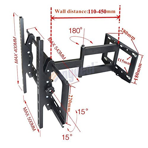 Vibrant Globe TV Wandhalter Wandhalterung neigbar schwenkbar für Samsung LG 323740424647505255152,4cm
