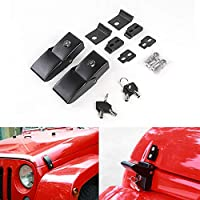 9qautoparts Aluminum Hood Latch for Jeep Wrangler JK, JKU Rubicon Sahara Sport 2007-2018 (Hood Latch-02)