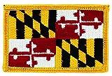 Patch écusson brodé drapeau maryland thermocollant usa americain etats unis