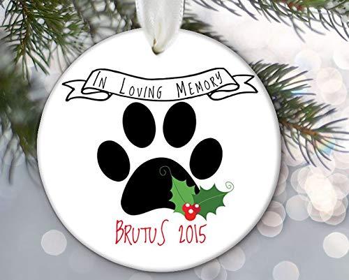 Enidgunter Familie Haustier Gedenkfigur in Erinnerung an Hund Ornament Katze Ornament Personalisierte Haustier Gedenktafel Weihnachten Ornament -