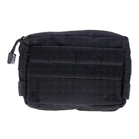Sac ?Sports de plein air imperméables tactique militaire EDC sac taille pochette Etuis noir