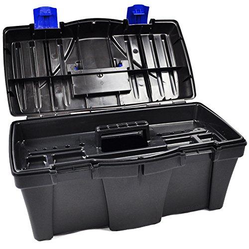 BULTO Werkzeugkoffer Werkzeugkasten 18S – schwarz/blau – 460 x 257 x 227 mm - 4