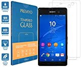 PREMYO 2 Stück Panzerglas Schutzglas Bildschirmschutzfolie Folie kompatibel für Sony Xperia M5 Blasenfrei HD-Klar 9H 2,5D Gegen Kratzer Fingerabdrücke