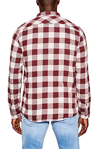 edc by Esprit Chemise Casual Homme Rouge (Bordeaux Red 600)