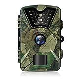 Hykamic Wildkamera Fotofalle 12MP 1080P Full HD Jagdkamera Weitwinkel Vision Infrarote Nachtsicht Wasserdichte IP66 Überwachungskamera