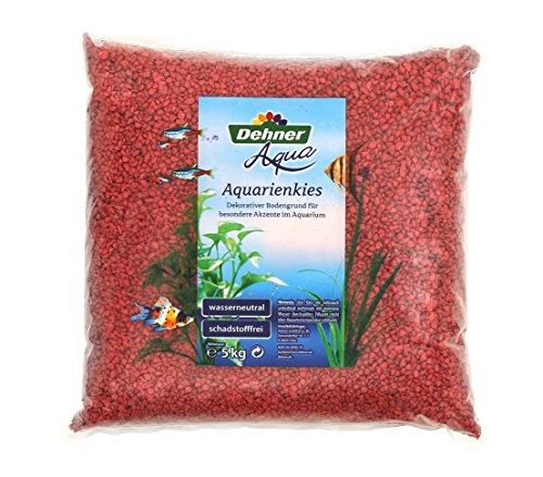 Dehner Aqua Aquarienkies, Körnung 4 - 6 mm, 5 kg, rot