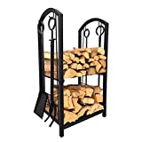 Kamin Log Rack mit 4 Tools Indoor