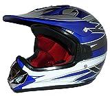 Protectwear Niños Casco Cross MaX Racing azul brillante V310-BL Tamaño S (juventud XL) 55 cm