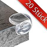 20 STÜCK - Eckenschutz und Kantenschutz | Fuchsi PREMIUM Produkt | BPA Frei | transparent aus Kunststoff für Tisch / Möbel-Ecken / Kanten | Stoßschutz für Baby's, Kinder & Kleinkinder