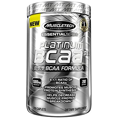 Muscletech Platinum BCAA 8:1:1 Sports Supplement Capsules, 200-Piece from Muscletech