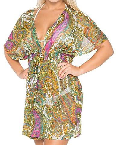 La Leela dames pure mousseline de soie tout en 1 plage top tunique robe robe de salon casual plage, plus la taille bikini sundress couvrent maillot de bain caftan plage piscine kimono du parti maxi