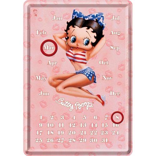 Preisvergleich Produktbild Nostalgic-Art 16403 Betty Boop Hot Tischkalender mit Magnetringen, 10x14 cm