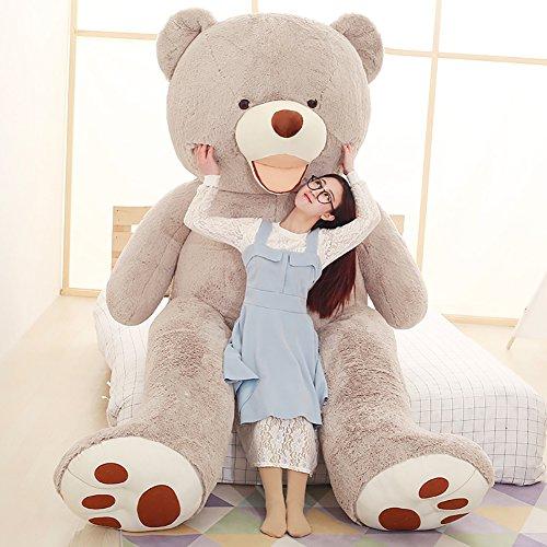 VERCART Groß Teddybär Spielzeug Kuscheltier Gigantischer Puppe Weiches Plüsch als Geschenk Geburtstagsgeschenk zur Dekoration Erwachsene Kinder Grau 160CM