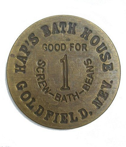 haps-bath-house-solid-brass-brothel-token-brass-check-by-great-western-trading-company