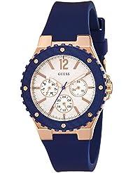 Guess Damen-Armbanduhr Analog Quarz Silikon W0149L5