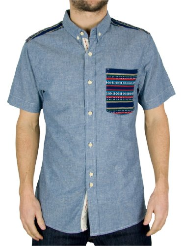 Bellfield -  Camicia Casual  - Uomo Blu