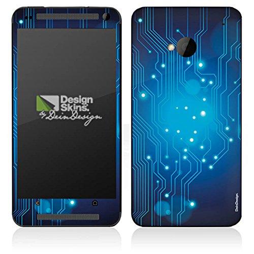 HTC One M7 Case Skin Sticker aus Vinyl-Folie Aufkleber Platine Digital Elektro