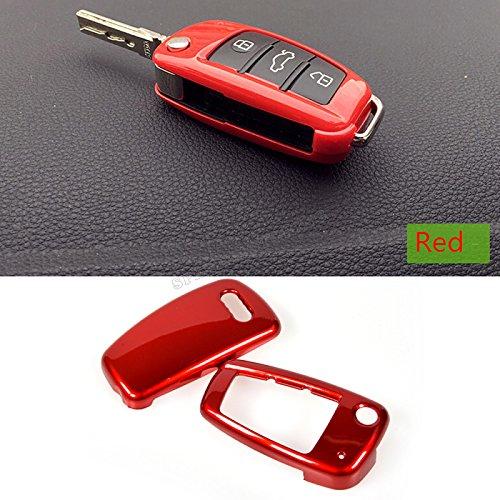 cyale (TM) ABS remoto llave del coche cubierta de repuesto caso Mic para Audi A6L A1Q3, Q7, TT, R8, A3S3