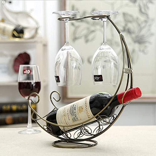 Weinflaschenhalter, kreative Schmiedeeisen Weinregal Dekorative Handwerk, für Küche Restaurant Bar...