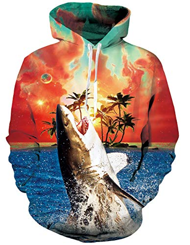 RAISEVERN 3D Sweatshirts Hoodies Männer/Frauen Animal Print Lustige Shark Hooded Pullover Harajuku Hoody