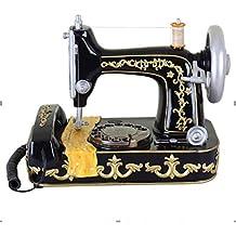 MVW Inicio Personalidad del teléfono de Escritorio Antiguo Estilo con la máquina de Coser Botones pulsadores