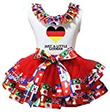 Petitebelle Nation Herz-Weiß-Shirt Red Nation Flaggen Petal Rock Nb-8J 6-8 Jahre Deutschland [1]