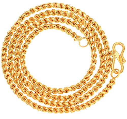 AanyaCentric Gold Plated Necklace Fashion Fancy Neck Chain for Men Women Girls Boys