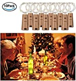 20 LED 2M FlaschenLicht Weinflasche Lichter korken Form 10 Pack Kupferdraht für Party Weihnachten Halloween Hochzeit