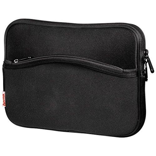 Hama Notebook-Cover Comfort (Schutzhülle für Notebook / Netbook / Laptop, Notebooktasche geeignet für Computer bis 26 cm / 10,2 Zoll Bildschirmdiagonale, Laptoptasche stoßfest, gepolstert) schwarz