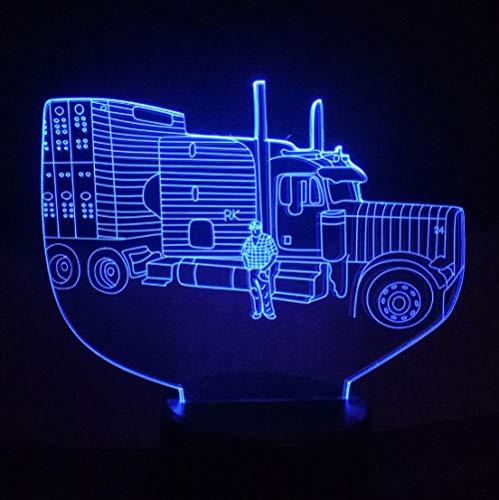 3D Illusion Lampe Led Nachtlicht Lkw 7 Farben Einzigartige Lichteffekte Usb Power Touch Tischlampe Beste Geburtstagsgeschenke Für Jungen Mädchen Kinder Baby - Jungen Wie Lkw-lampe