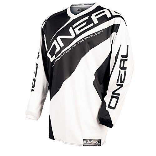 O'Neal Element Kinder Jersey RACEWEAR Weiß DH Mountain Bike Moto Cross Trikot Enduro MTB MX FR, 0025R-1, Größe Medium