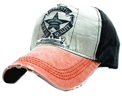 Baseball Cap Bonnet STAR Chapeau Sport Casquette Snapback Hip-Hop Snap Back Trucker MFAZ Morefaz Ltd (Orange peak)