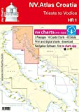 NV.Atlas Croatia HR 1 - Trieste to Vodice | Seekarte Kroatien Papier & Digital [ NV Verlag / nv charts]