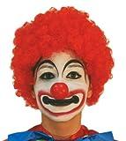 Parrucca clown rossa riccia economica