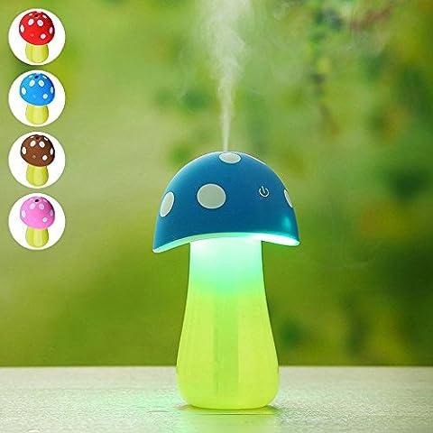 CFZC Portabl Mini USB a forma di fungo, 200 ml, motivo: Cool Mist umidificatore, purificatore d