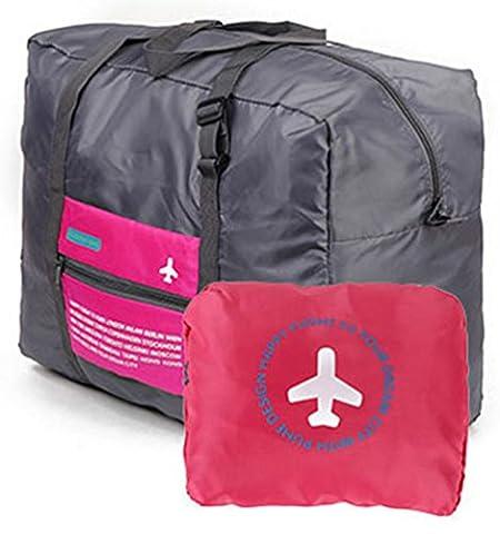 version coréenne du portable étanche valise en nylon multifonction poche forfait d'admission de pliage de Voyage grande capacité (Rose)