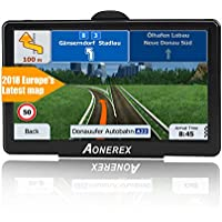 SAT NAV GPS Navigation System AONEREX-7-inch HD Touch Screen,Voice Car Navigation System, Built-In 8GB&256MB,UK&EU Latest 2018 Maps Lifetime Free Updates