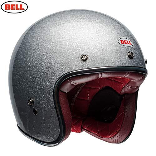 BELL HELMET CUSTOM 500 DLX FLAKE SILVER M