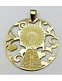 De Bussy Medalla Virgen Pilar en Plata de Ley con Baño de Oro 25mm