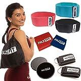 PAZFIT Set Bandes de Résistance - Kit d'équipement Fitness pour Entrainement Complet du Corps, Fitness Musculation pour Femmes - Programme d'Entrainement Complet Inclus...