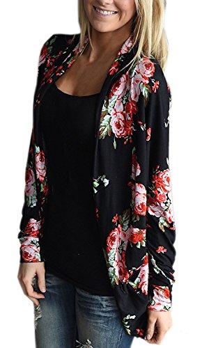 Battercake giacca donna cardigan elegante vintage etnico fiore stampato moda casual manica lunga asimmetrico autunno e inverno cappotto giacche camicetta top