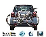 2Fahrräder Rack für Smart ForTwo 453Cabrio–Coupe (schwarz)