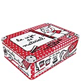Laroom 12582Metalldose der Material-Box, rot
