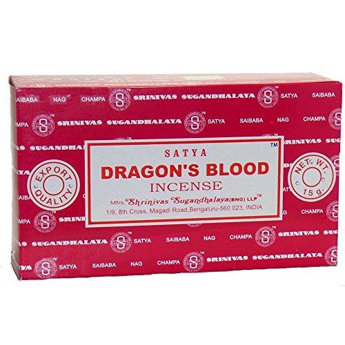 Dragons Blood-räucherstäbchen (Drachenblut - 180g - Satya Dragons Blood - Räucherstäbchen)