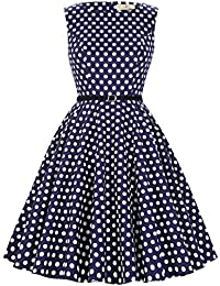 GRACE KARIN® 50s Vintage Übergröße Rockabilly Kleid Partykleid Cocktailkleid GD6086 Große Größen