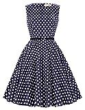 große größe rockabilly kleid polka dots kleid knielang übergröße festlich swing kleid große Größen 1X CL6086-45