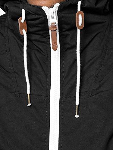 !SOLID Herren Spunk Übergangsjacke Jacke mit Kapuze aus hochwertigem Material Schwarz